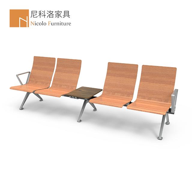 木机场椅/多层板机场椅/木制等候椅/候诊椅/排椅/NCL-529MF