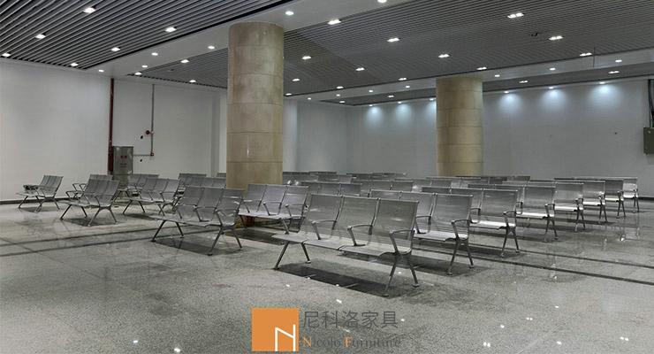 广州南站客运中心候车PU等候椅案例